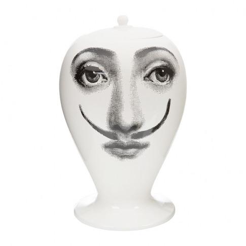 Fornasetti - La Femme Aux Moustaches Vase - Black/White