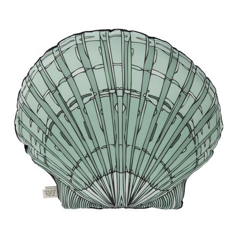 Silken Favours - Shell Cushion - 45x40cm - Blue