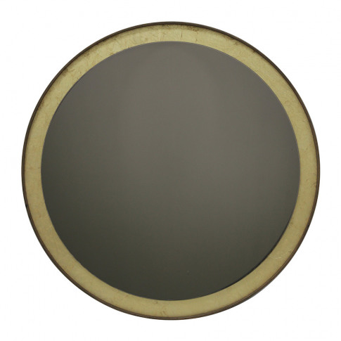 Notre Monde - Gold Leaf Bronze Round Wall Mirror