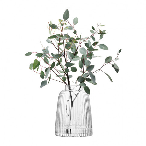 Lsa International - Pleat Vase - Clear - 26cm
