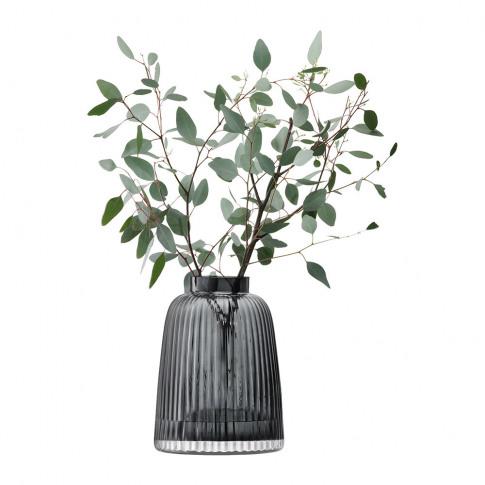 Lsa International - Pleat Vase - Grey - 26cm