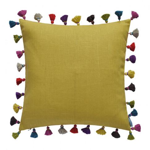 Bluebellgray - Tassel Cushion - 45x45cm - Saffron