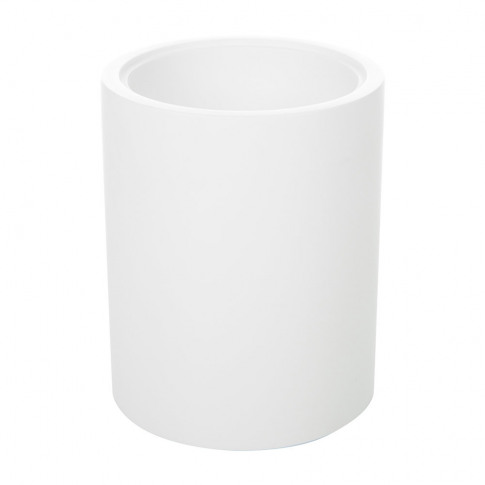 Decor Walther - Stone Ber Round Toothbrush Holder - White