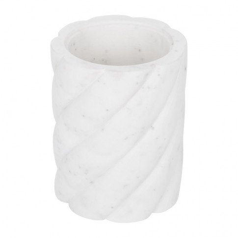 A By Amara - White Marble Toothbrush Holder