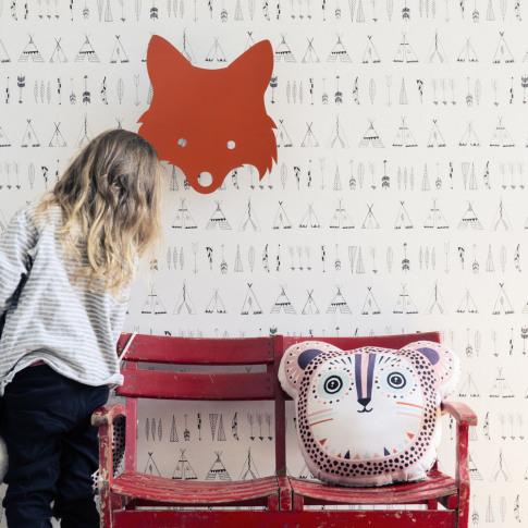 Ferm Living - Fox Wall Lamp - Red Orange