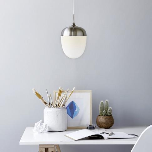 A by Amara - Acorn E27 Pendant Light - White