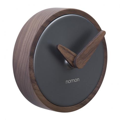 Nomon - Atomo Wall Clock - Walnut/Graphite