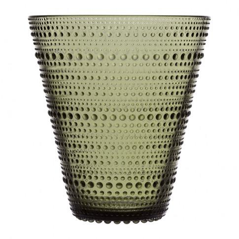 Iittala - Kastehelmi Vase - 15cm - Moss Green