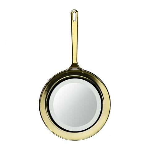 Ghidini 1961 - Frying Pan Mirror - Gold
