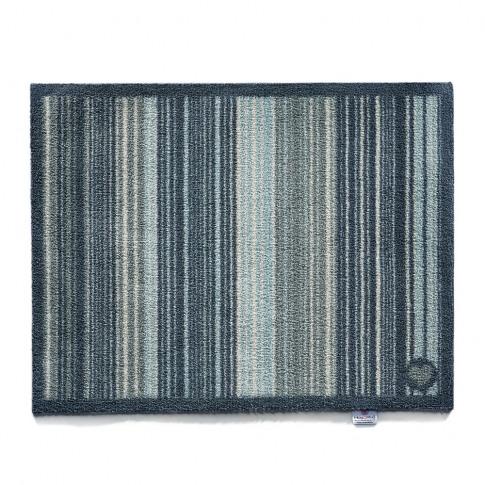 Hug Rug - Stripe Washable Recycled Door Mat - Blue -...