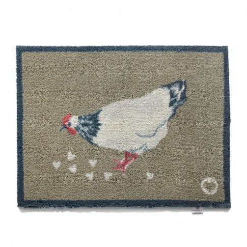 Hug Rug - Chicken Washable Recycled Door Mat - 65x85cm