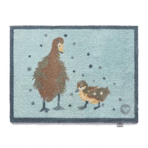 Hug Rug - Ducks Washable Recycled Door Mat - Blue - ...
