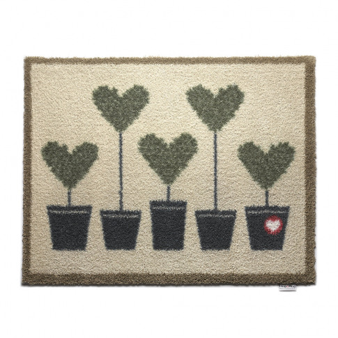 Hug Rug - Topiary Hearts Washable Recycled Door Mat ...