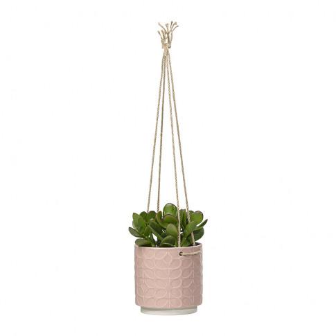 Orla Kiely - Sixties Stem Ceramic Hanging Pot - Rose...