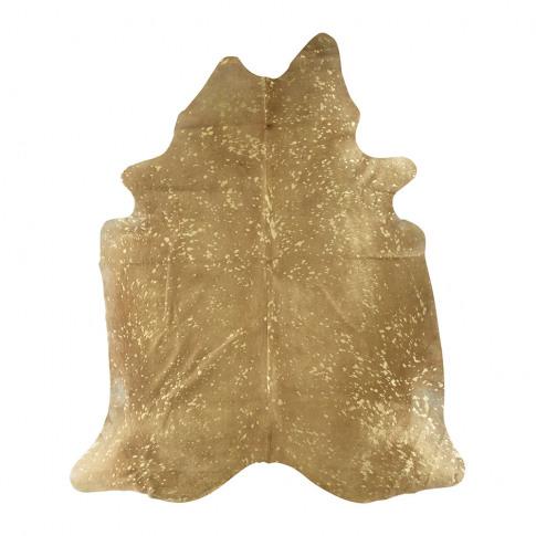 A By Amara - Metallic Acid Cowhide Rug - Natural/Gold