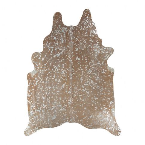 A By Amara - Metallic Acid Cowhide Rug - Natural/Silver