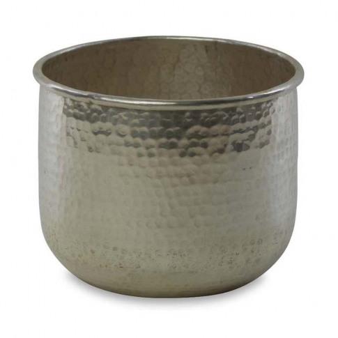 Nkuku - Rhuna Round Planter - Silver - Small