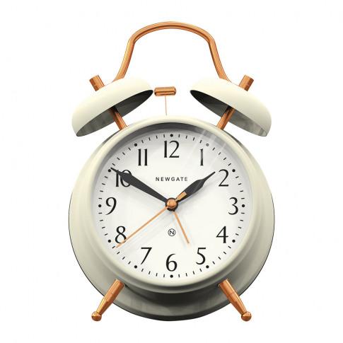 Newgate Clocks - Brick Lane Alarm Clock - Linen Whit...