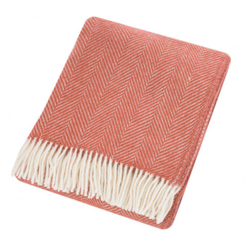 Tweedmill - Fishbone Wool Throw - Cranberry