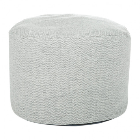 Tweedmill - Tweed Pouf - 45x30cm - Silver Grey Herri...