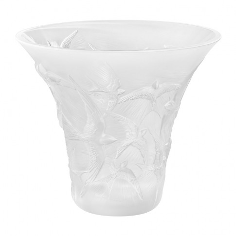 Lalique - Hirondelles Flared Crystal Vase - Clear