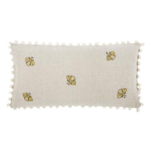 Joanna Buchanan - Embroidered Bee Cushion With Pom P...