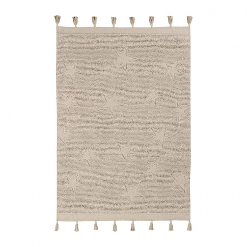 Lorena Canals - Hippy Stars Washable Rug - 120x175cm - Natural