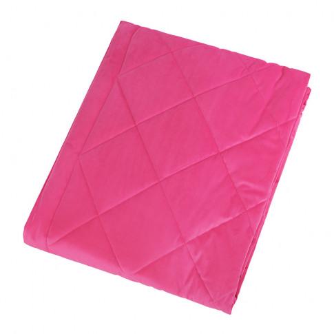 A By Amara - Diamond Velvet Bedspread - Candy - 140x...