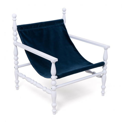 Seletti - Heritage Wooden Armchair - White/Blue