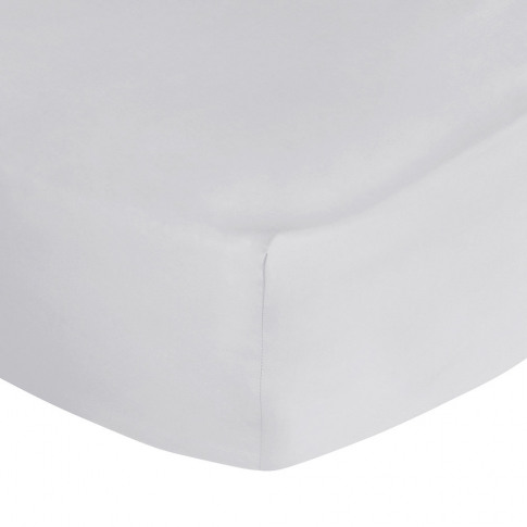 A By Amara - Egyptian Cotton Fitted Sheet - Silver -...