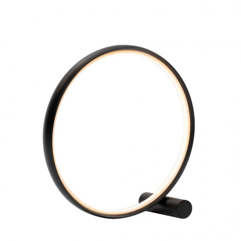 Sola Led Ring Table Lamp, Matt Black