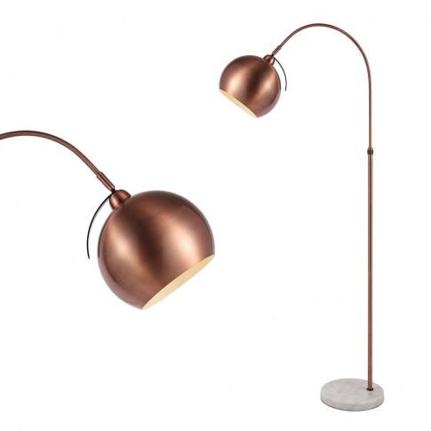 Benson Curved Floor Lamp, Copper
