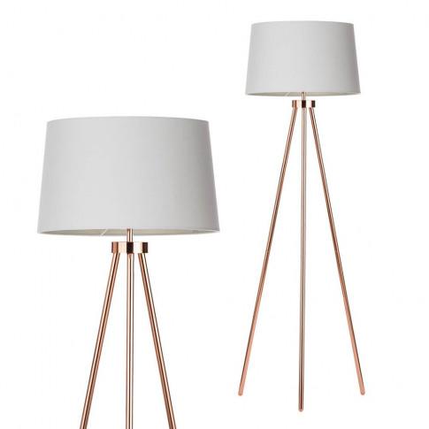 Tristan Tripod Floor Lamp, Copper