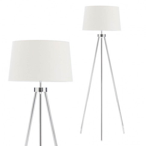 Tristan Tripod Floor Lamp, Chrome