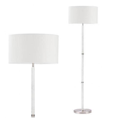 Joshua Marble Floor Lamp, Natural
