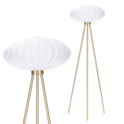 Coral Tripod Floor Lamp, Brass