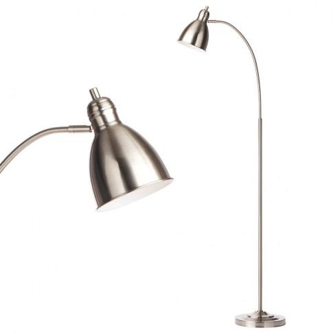 Leryn Floor Lamp, Nickel
