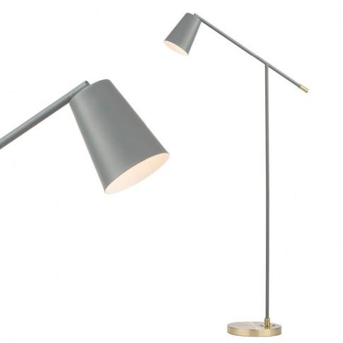 Morlie Task Floor Lamp, Grey