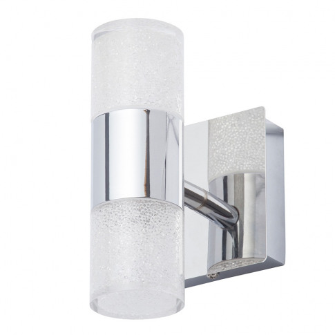 Skyla Crackle Led Bathroom Wall Light, Chrome