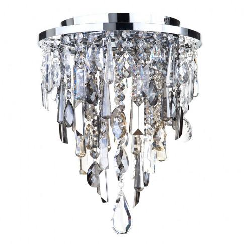 Jennifer Flush Ceiling Light With Mixed Cut Glass, C...