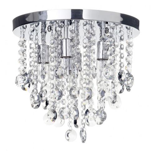 Cirrus Medium Bathroom Flush Ceiling Light, Chrome