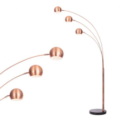 Dorah 3 Arc Floor Lamp, Copper