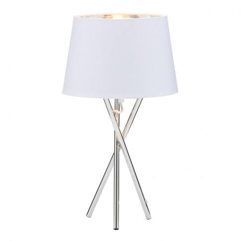Drey Table Lamp, Chrome