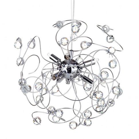 Lila Sputnik Ceiling Light, Chrome
