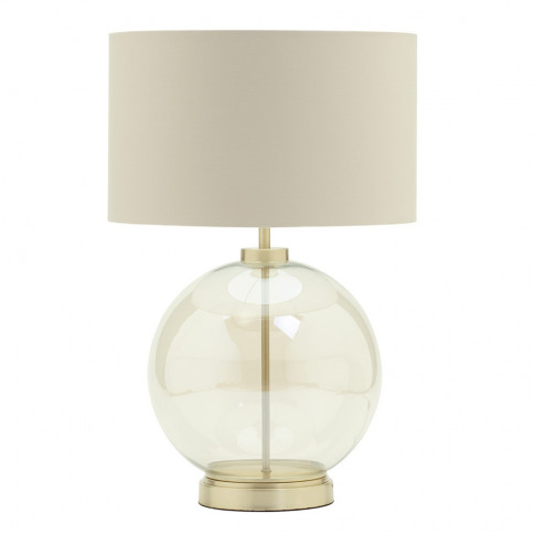 Metro Clear Glass Sphere Table Lamp, Satin Brass And...