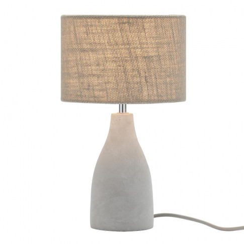 Mini Marcus Concrete Table Lamp, Satin Nickel