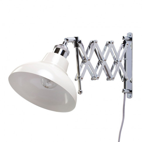 Ollos Industrial Style Extendable Wall Light, Cream