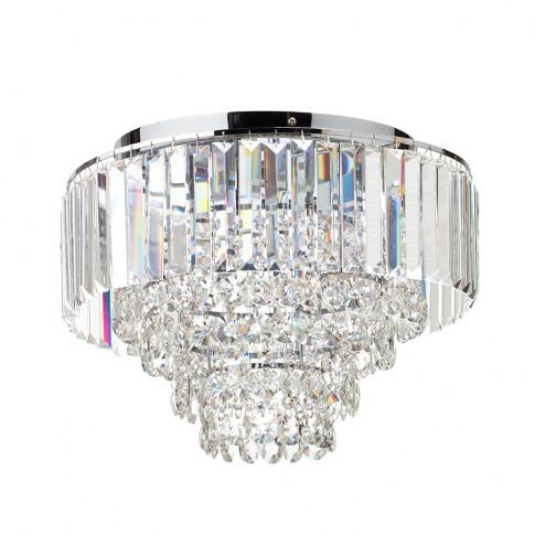 Paladina Flush Ceiling Light, Chrome