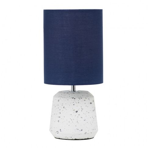 Rizzo Terrazzo Base Table Lamp With Blue Cylinder Shade