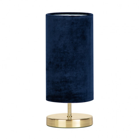 Taylor Velvet Table Lamp, Navy And Brass